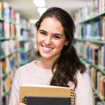 Image  of  a  smiling  student