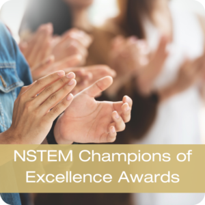 NSTEM Champions of Excellence Awards Button